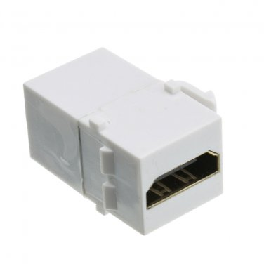 Keystone Insert, White, HDMI Female Coupler