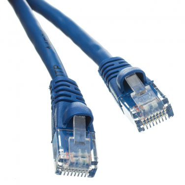 Cat5e Blue Ethernet Patch Cable, Snagless/Molded Boot, 5 foot
