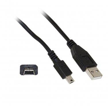 10UM-02103BK 3ft Mini USB 2.0 Cable, Black, Type A Male to 5 Pin Mini-B Male  10UM-02103BK