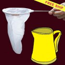 """FREESHIP LARGE CLOTH COFFEE/TEA STRAINER WITH HANDLE- TRADITIONAL THAI STYLE 5"""" diameter"""