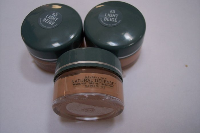 3 pcs MAYBELLINE Light beige Foundation Trial Size