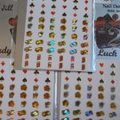 Lot of 5 Self Adhesive Nail Sticker Designs-total of 300 stickers!