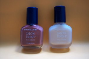 2 bottles of MYBELLINE salon finish nail polish NEW!