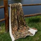 Camouflage Sherpa Mink Throw Blanket