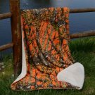 Orange Cama Sherpa Mink Blanket