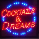 Cocktails and Dreams Motion LED Sign