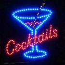 19x19 Large Cocktails LED Sign