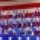 Window Graphic - 16x54 Patriotic Flames