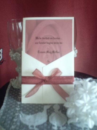 Rose Garden Wedding Invitation