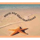 Starfish on Beach note card