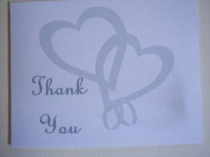 Interwoven Hearts Thank You Card