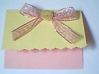 Pastel Yellow and Blush Pink Note Card