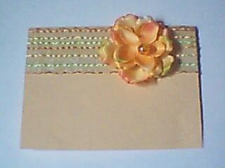 Peach Flowered Note Card