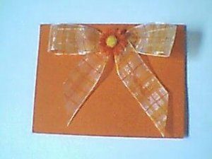 Orange Flower Note Card