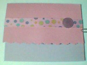 Polka Dot Pink Note Card