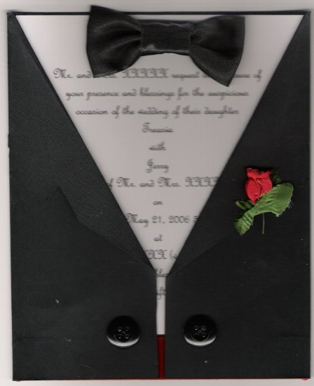 Black Tie Affair Wedding Invitation Set