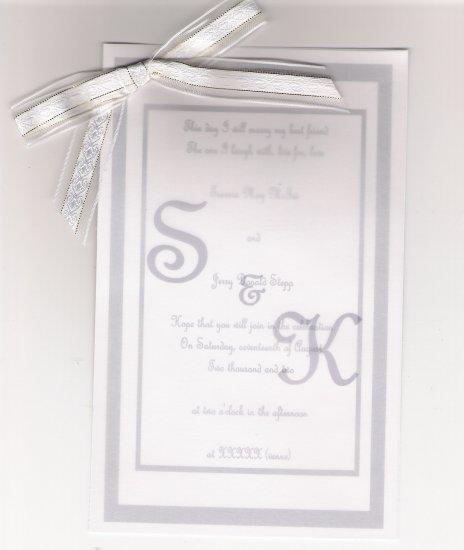 "Custom Designed ""Timeless Elegance"" Wedding Invitation Set"