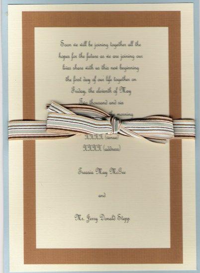 "Custom Designed ""Seashore"" Wedding Invitation Set"