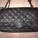 Quilted Black Silver Chain  Designer Handbag