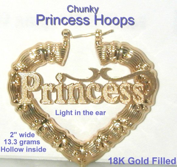 Princess Chunky Hoops