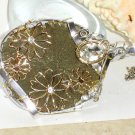 Blooming StormGold Large statement Pyrite Sun Pendant Necklace