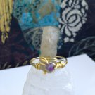 Sylvan Sunlight-Kyanite Crystal Point & Amethyst Size 9 Wire Wrapped Ring