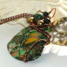 'Dusk in the Eternal Forest' ooak wirewrapped statement piece pendant on chain