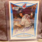 LONNIE CHISENHALL 2008 BOWMAN CHROME DRAFT PICKS AND PROSPECTS AUTO RC INDIANS