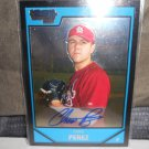 CHRIS PEREZ 2007 BOWMAN CHROME PROSPECTS AUTO RC INDIANS / DODGERS