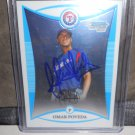 OMAR POVEDA 2008 BOWMAN CHROME PROSPECTS IN-PERSON AUTO RC RANGERS / BRAVES