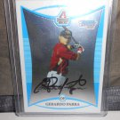 GERARDO PARRA 2008 BOWMAN CHROME PROSPECTS IN-PERSON AUTO RC DIAMONDBACKS