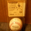 CAL RIPKEN JR IRON MAN COMMEMORATIVE BALL FACSIMILE AUTO SERIAL #2131 / ORIOLES