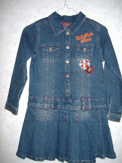 U.S. Polo Assn Girl Denim Dress   Size 6x