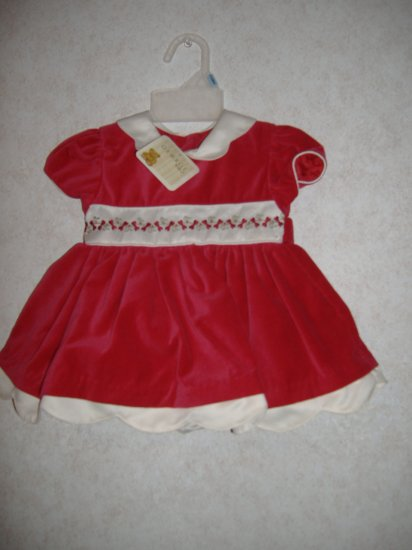 2 Pc George Infant Girl Dress Set  Size 3-6 Months