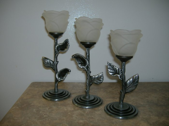 Metal & Glass Candle Holders