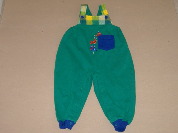 Ernie , Elmo & Grover Infant Boys Overall   Size 24 Mos