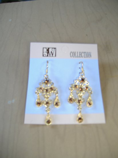 Antique Gold Finish Dangle Earrings