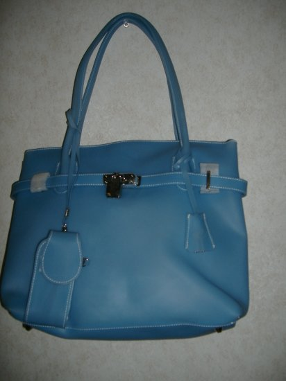 Large Light Blue Jelly Handbag  ( NEW )