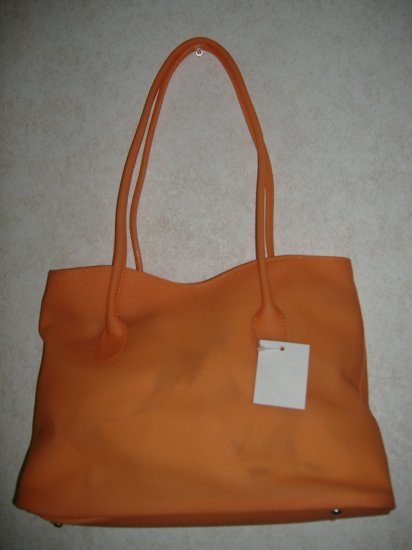 Large Orange Jelly Handbag  ( NEW )