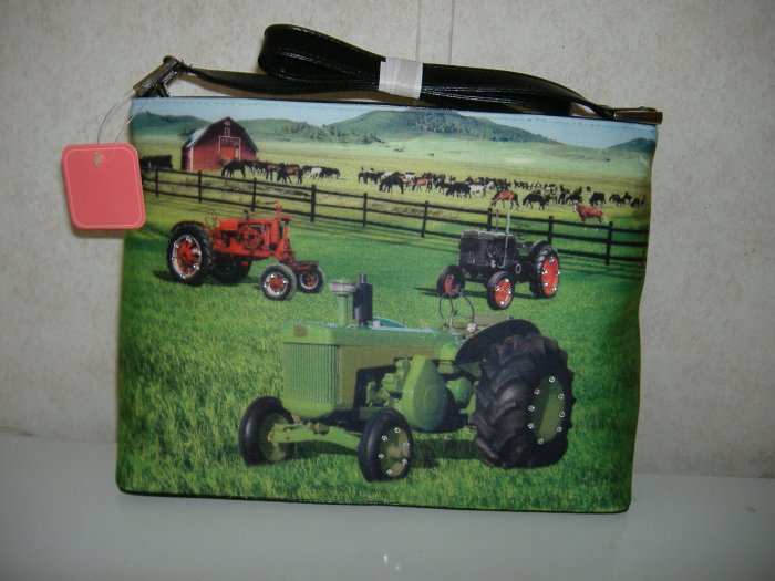 Tractor Filed Handbag w / Rhinestons