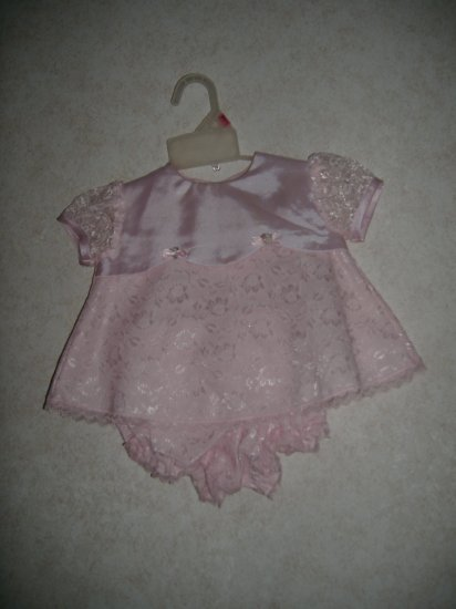 Rose Cottage Baby Dress & Panties  Size 6/9 Months