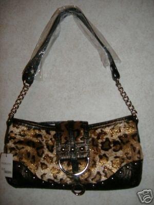 Sexy Leopard Gold Glitter Shoulder Bag