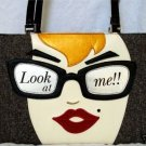 Look At Me Handbag w / Rhinestones