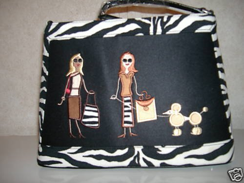 Walking Diva Zebra Handbag