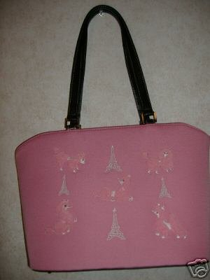 Pink Poodle Handbag