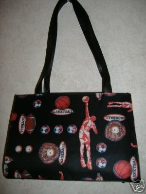Basket And Football Handbag w /Rhinestones