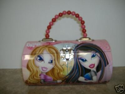 Bratz Round Roll Tin Lunch Box Handbag