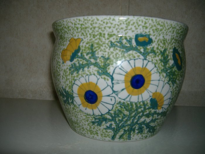 Hand Painted Porcelain Flower Pot Bowl