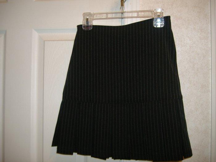 Girl's Black  Stripe Skirt By Copper Key - Size 8