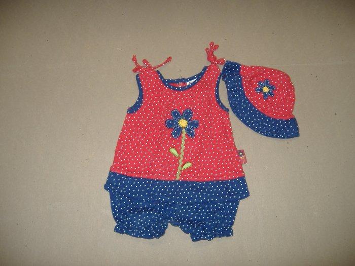 Infant Girl's Two Peice Set  - Size 0-3 Months